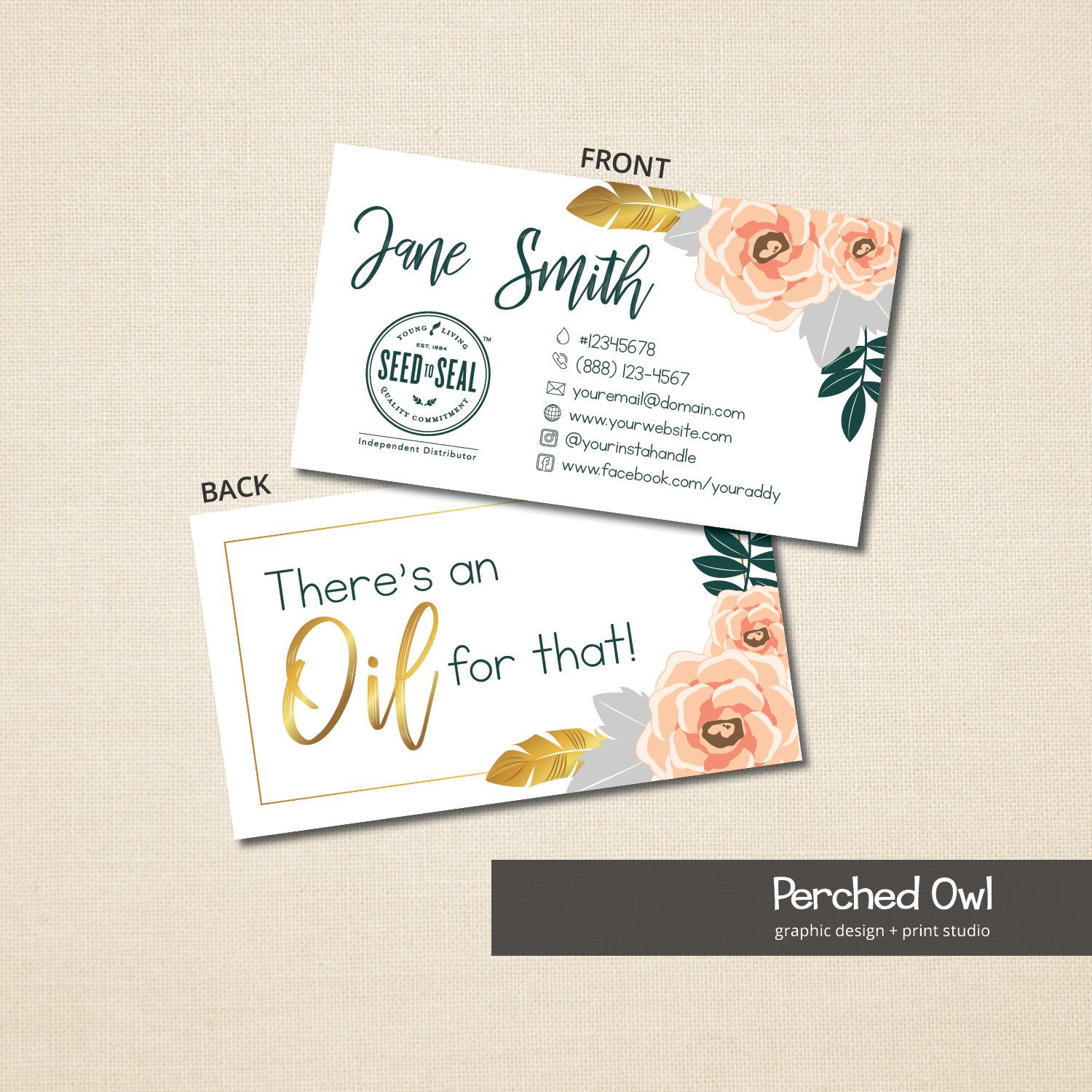 Essential Oils Business Card 2 Sided Card There S An Oil For