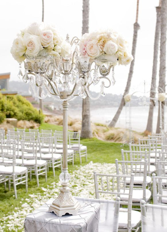 Silver Theme Wedding Aisle Ceremony Decorations