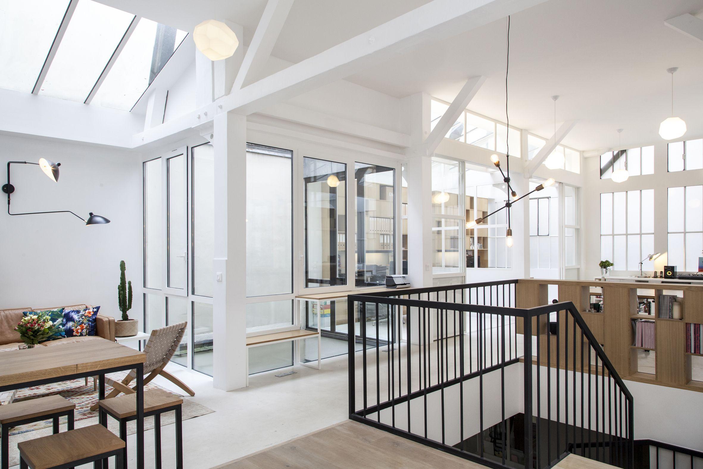 r novation des bureaux de creaminal par boclaud architecture boclaud architecture pinterest. Black Bedroom Furniture Sets. Home Design Ideas