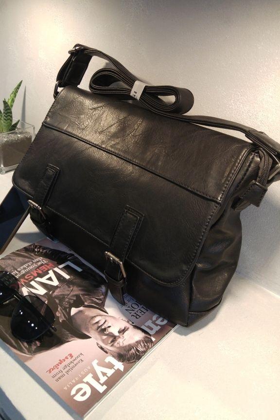f4096ca8b8 Τσάντα Ταχυδρόμου Ανδρική Μαύρη  Guardian