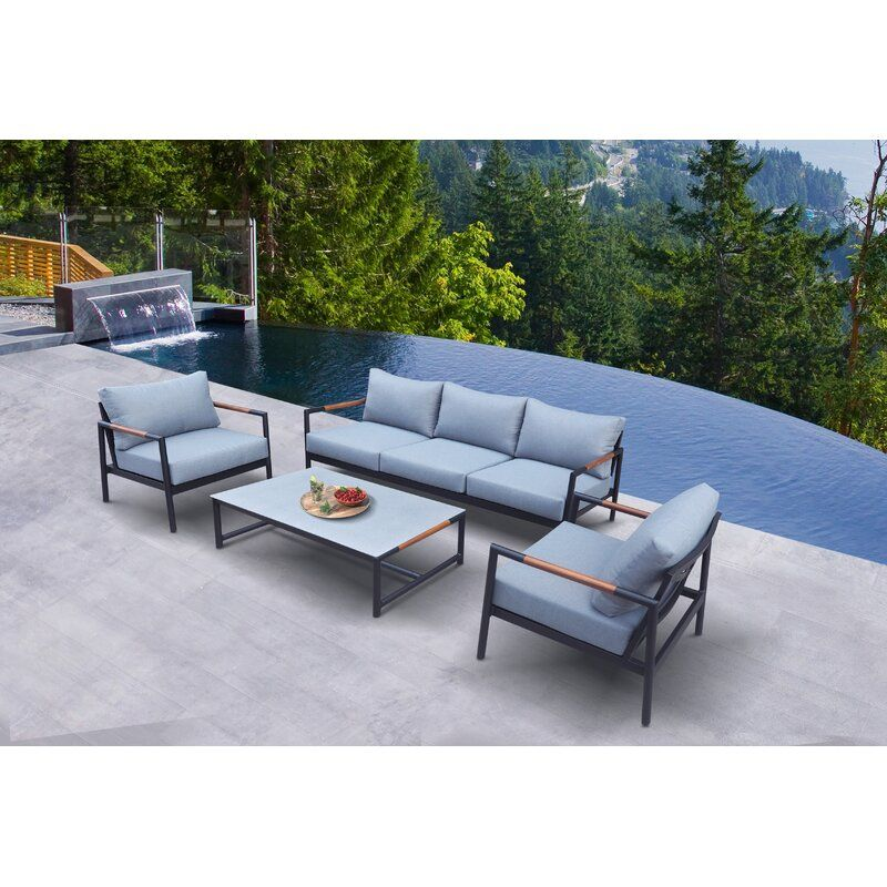 Pin By Parker Ashley Callies On Screened Porch Teak Sofa Seating Groups Modern Outdoor Sofas