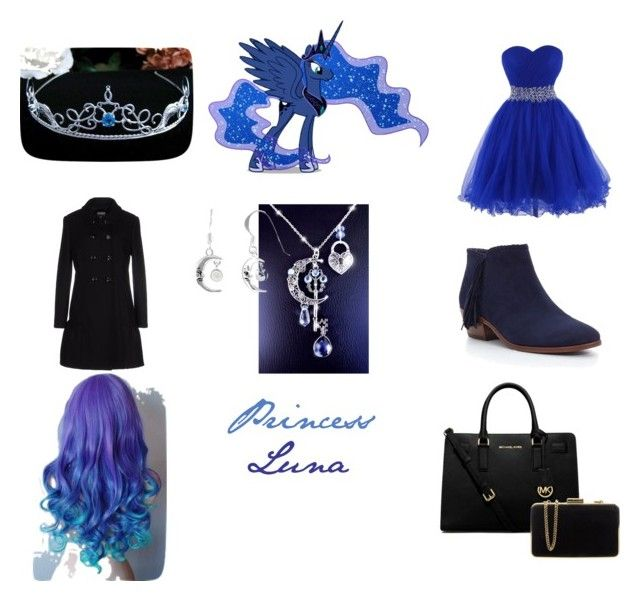 """Princess Luna; MLP #7"" by generalelsa ❤ liked on Polyvore featuring art"