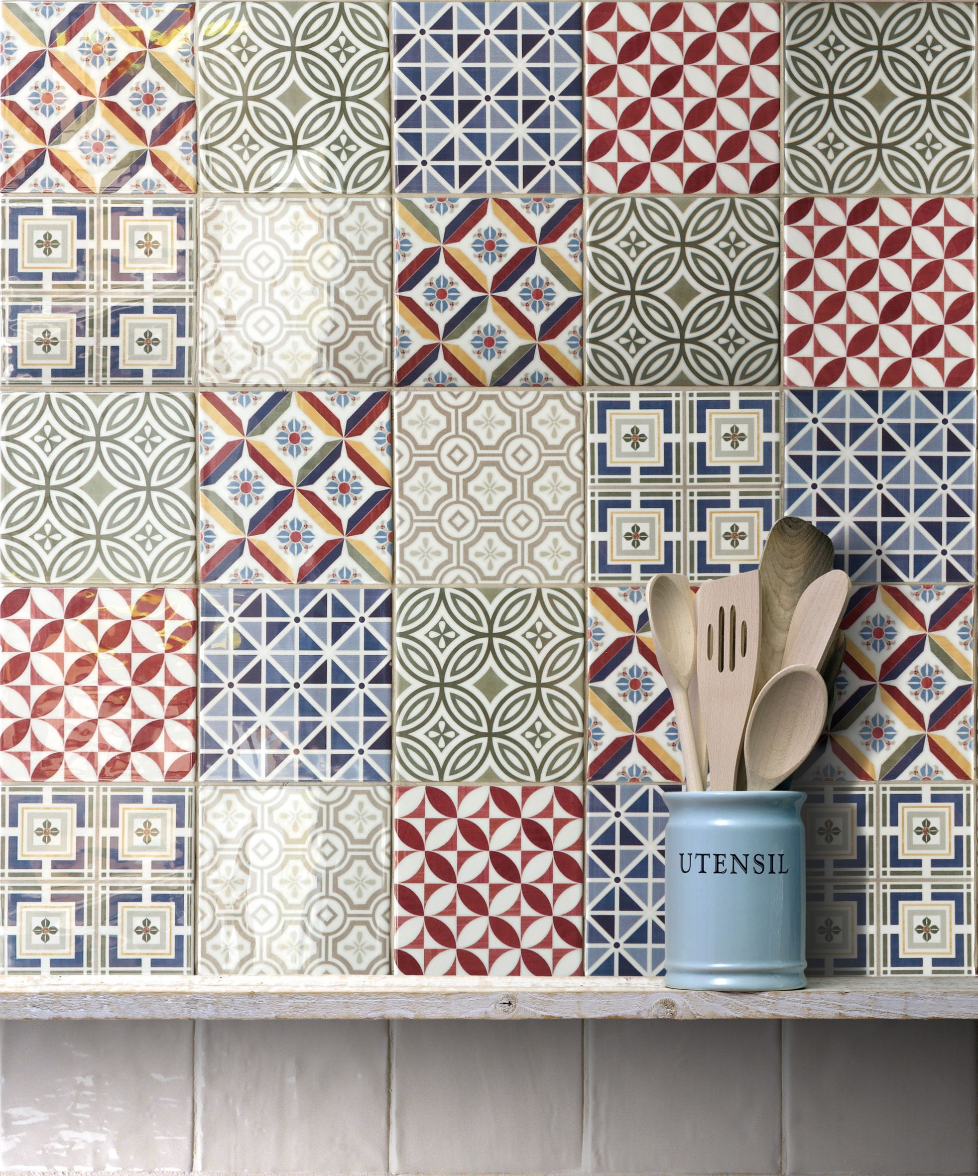 Be Inspired By A Blue Kitchen Created Using Our Patterned Havana