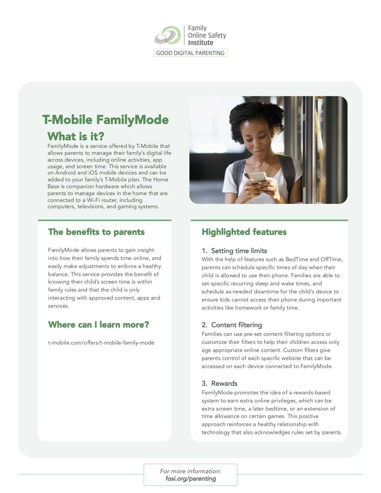 Tip Sheet What is TMobile's FamilyMode? Digital