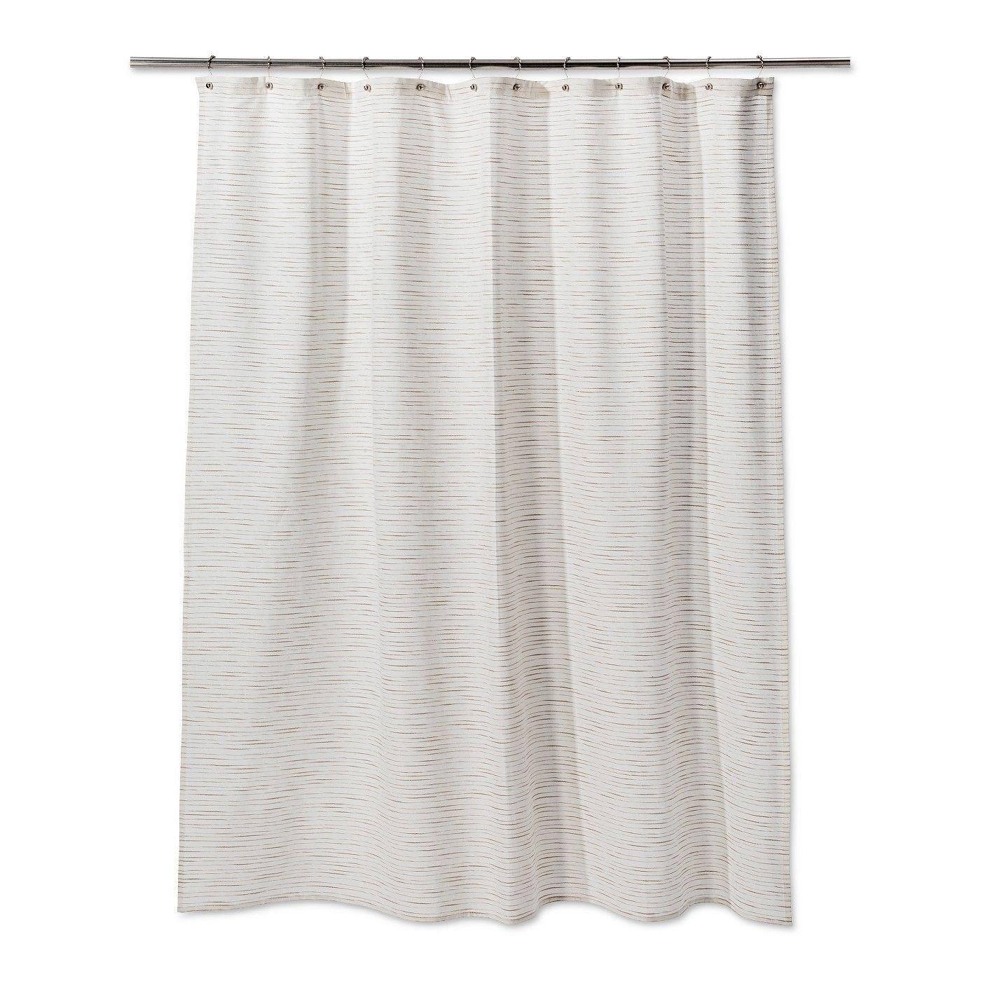 Woven Metallic Slub Shower Curtain Sour Cream Project 62