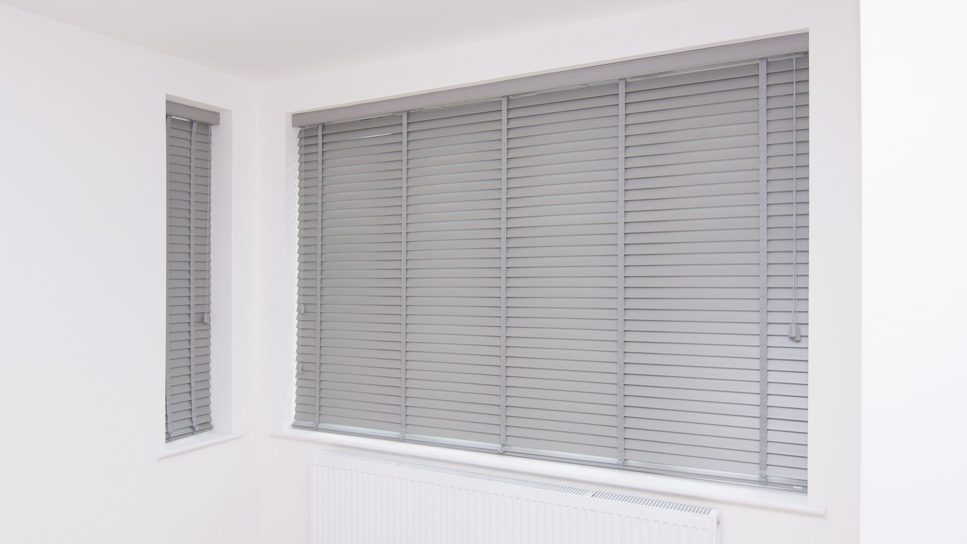 beautiful window of venetian bay shutters blinds picture estate grey wood