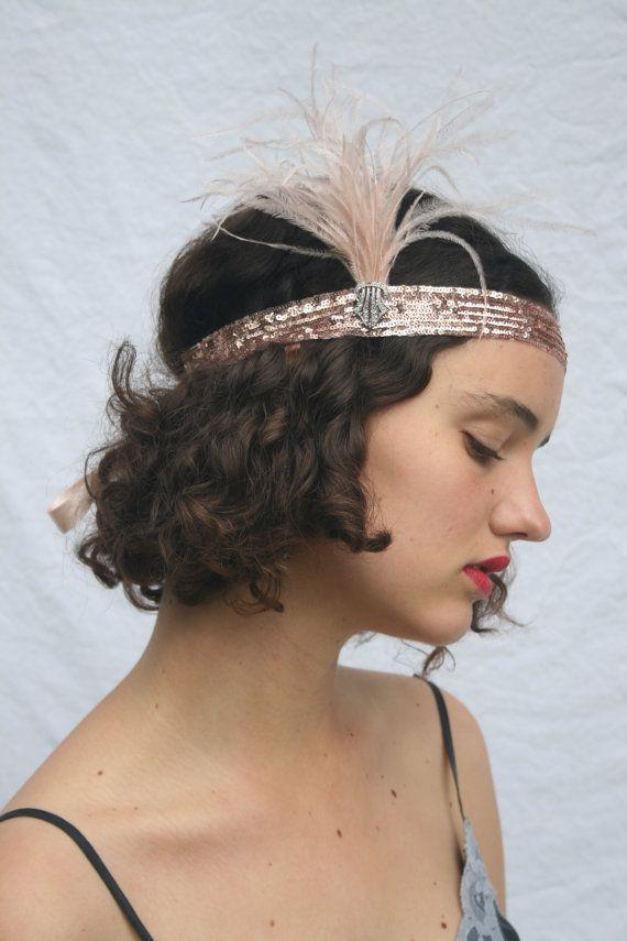 Downton 1920s Style Oro Copricapo//Copricapo FLAPPER Costume Boho. Gatsby