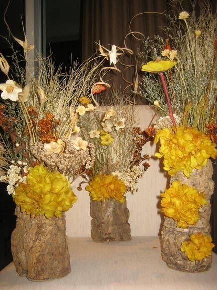 Trio de Flores Secas II #floressecas Arranjos Pinterest - flores secas