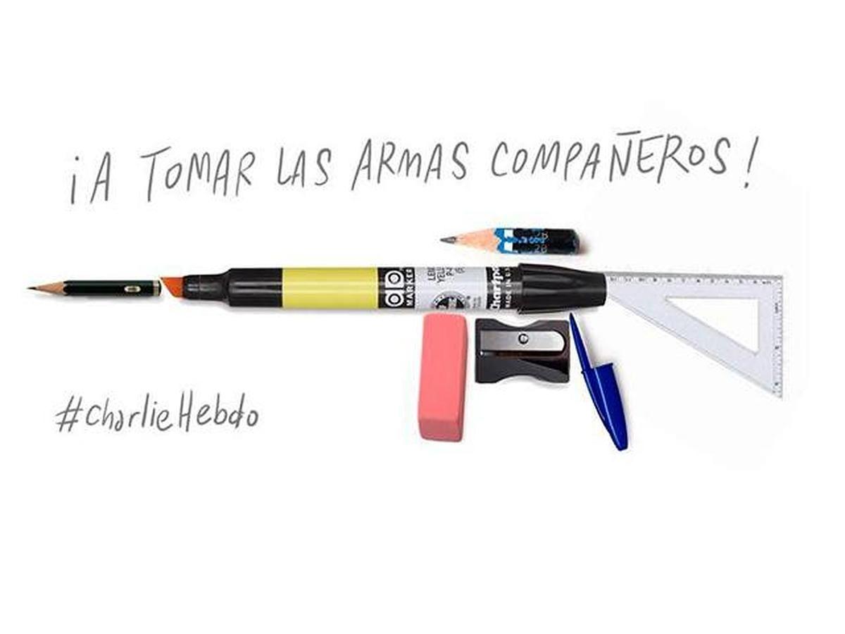 El homenaje de caricaturistas de todo el mundo a sus colegas de Charlie Hebdo - Internacional - abc.es