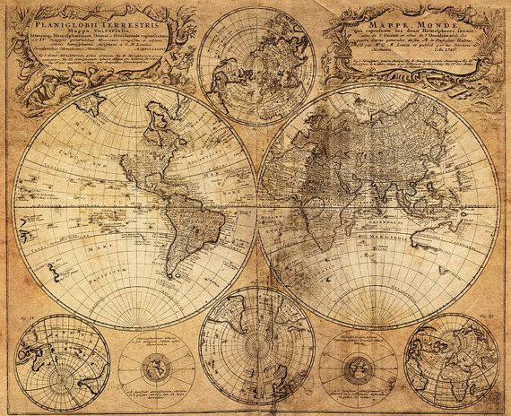Worksheet. Retro World Map Cotton Fabric Map of Voyage in 1746 Patern Best