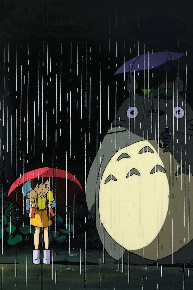 My Neighbor Totoro Art Illust Rain Anime IPhone 4s Wallpaper