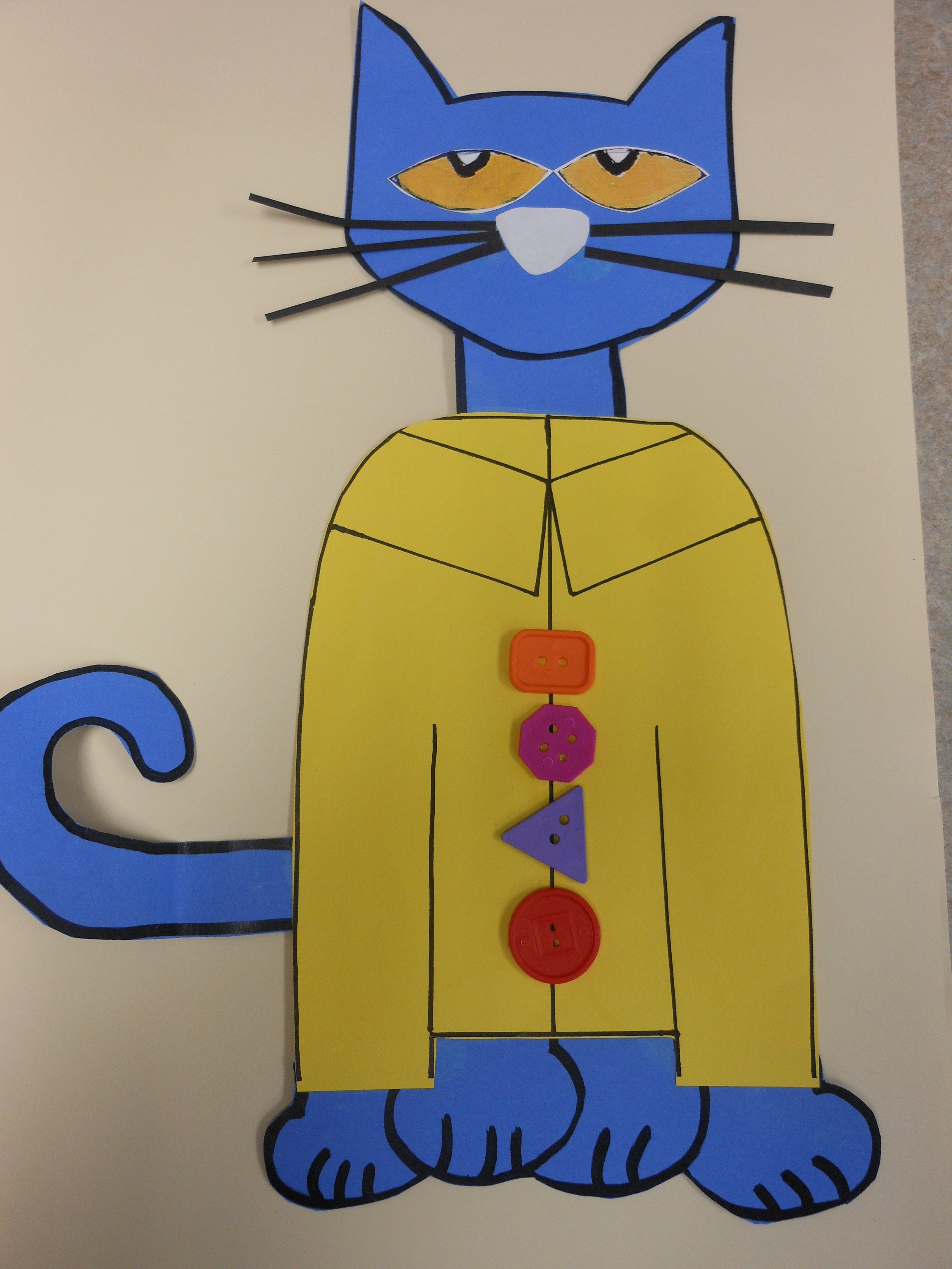 Pete The Cat And His Groovy Buttons Craft Ed Glue Dots