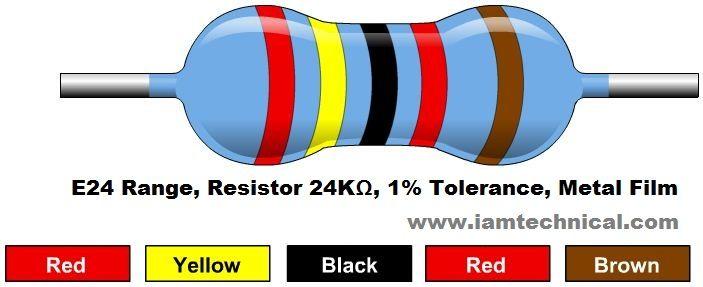 24KΩ Resistor Color Code Resistor Pinterest Colori - resistor color code chart