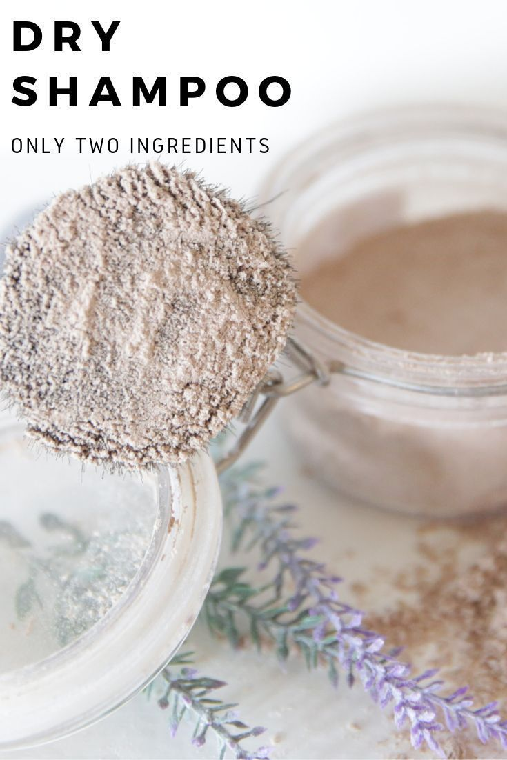 All natural DIY dry shampoo for dark hair and blondes