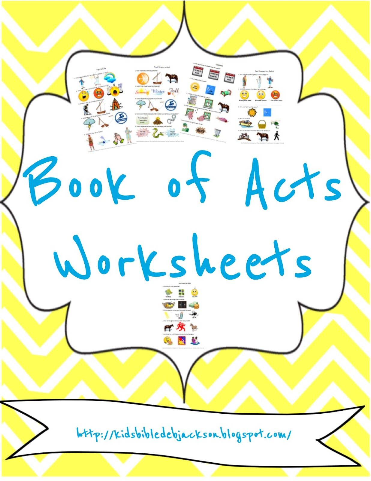 Acts Worksheets All In One Place