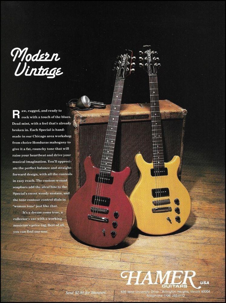 Pin On Hamer Guitars Advertisement Ad Print