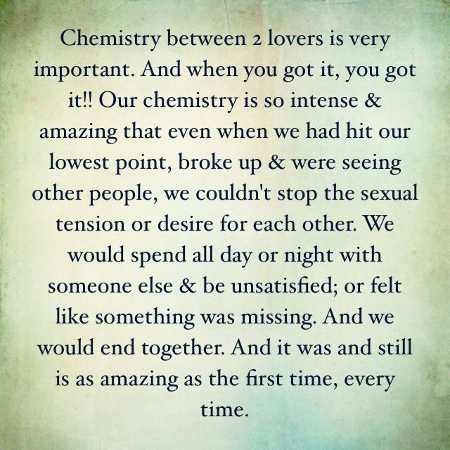 How Important is it that you have chemistry with someone?