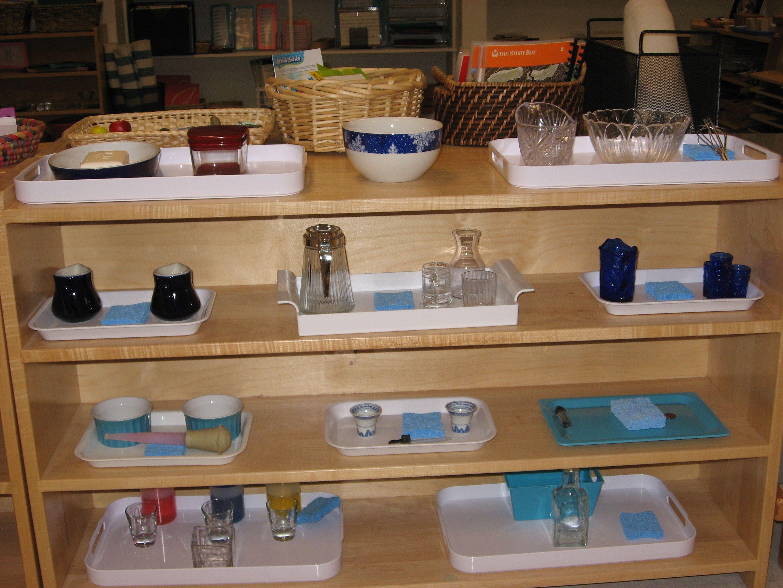 January Practical Life Wet Transfer Shelf Montessori