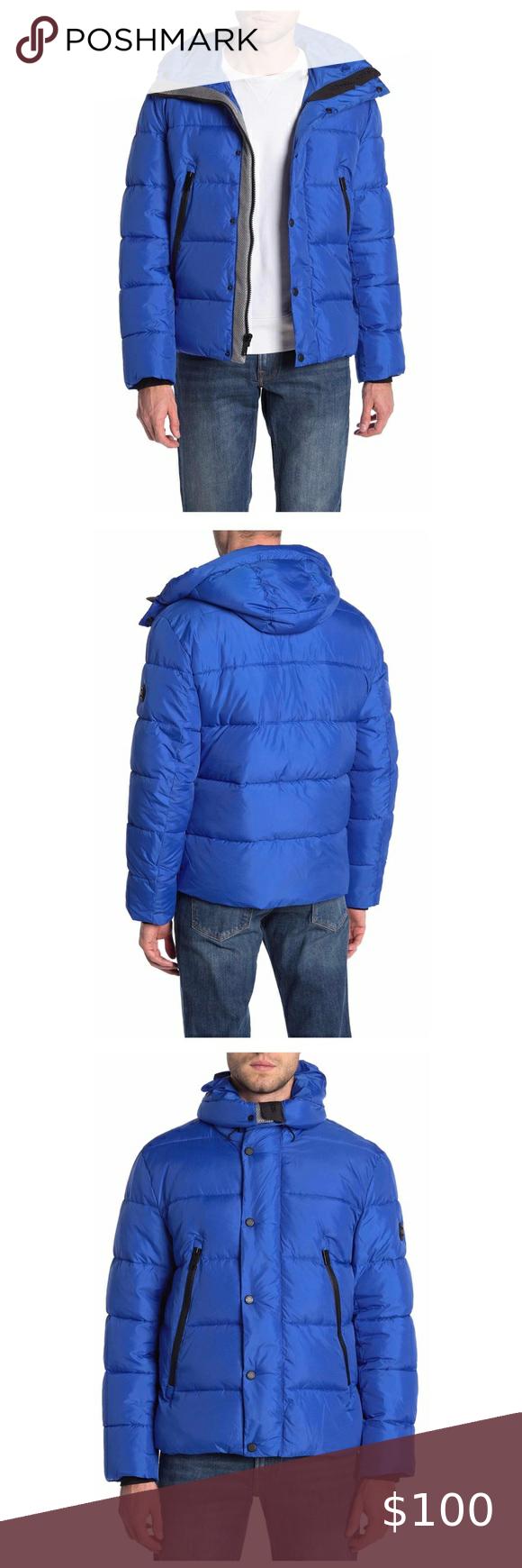 Michael Kors Men S Water Resistant Jacket Winter Fashion Coats Clothes Design Black Quilted Jacket [ 1740 x 580 Pixel ]