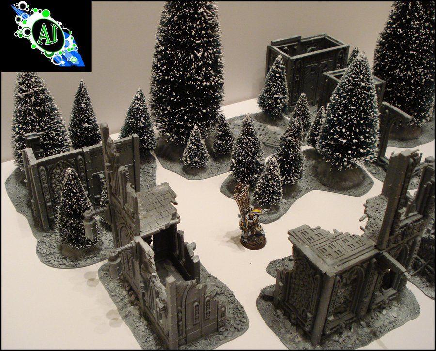 Space Wolves arctic terrain by machado84 deviantart com on