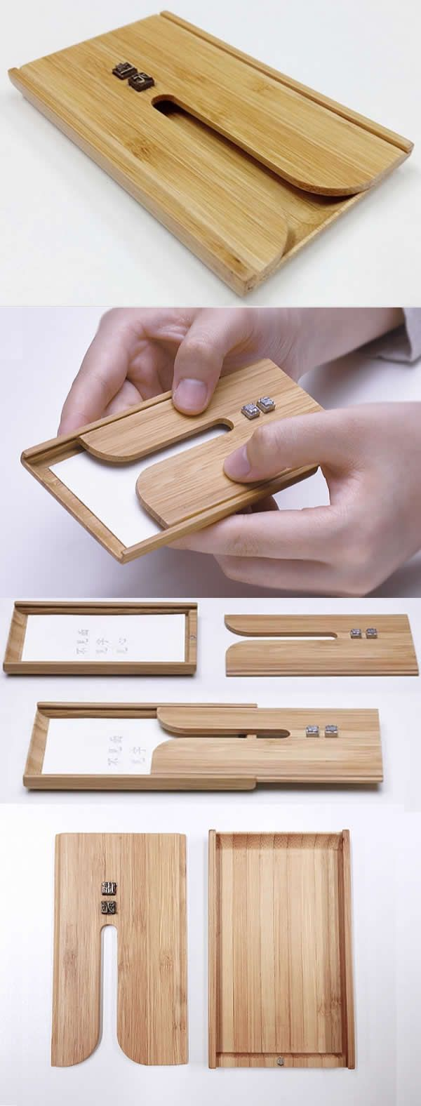 Wooden Bamboo Business Card Case Holder | Boxes | Pinterest ...
