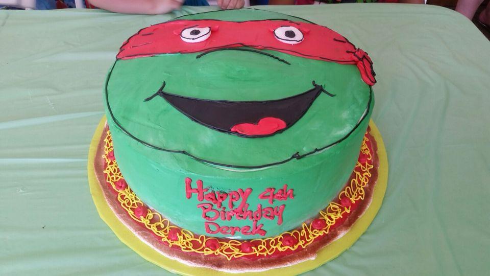 3D Ninja turtle Raphael birthday Cake Sons 4th birthday party