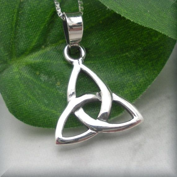 Trinity necklace triquetra necklace celtic knot celtic trinity trinity knot triquetra celtic knot necklace sterling silver pendant irish jewelry sn629 on etsy mozeypictures Image collections