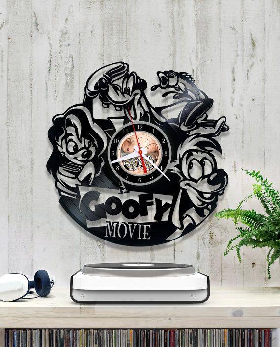 A Goofy Movie Vinyl Clock Vinyl Wall Clock 1 8 1 Vinyl Record Clock Walt Disney Classics Disneytoon Max Goof Kevin Lima Vinyl Record Clock White Clocks Clock