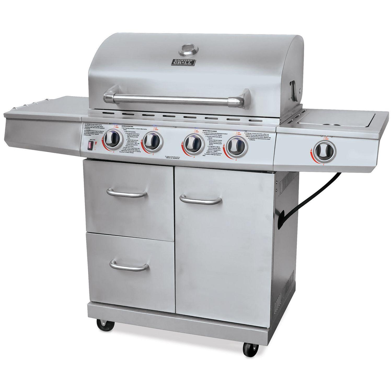 barbecue au gaz à 4 brûleurs en acier inoxydable de backyard grill