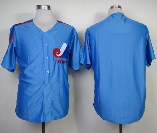 Mitchell And Ness Expos Blank Blue Throwback Stitched MLB Jersey ... 006616576