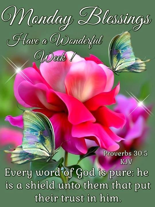 Monday Blessings. Proverbs 305 KJV Monday blessings