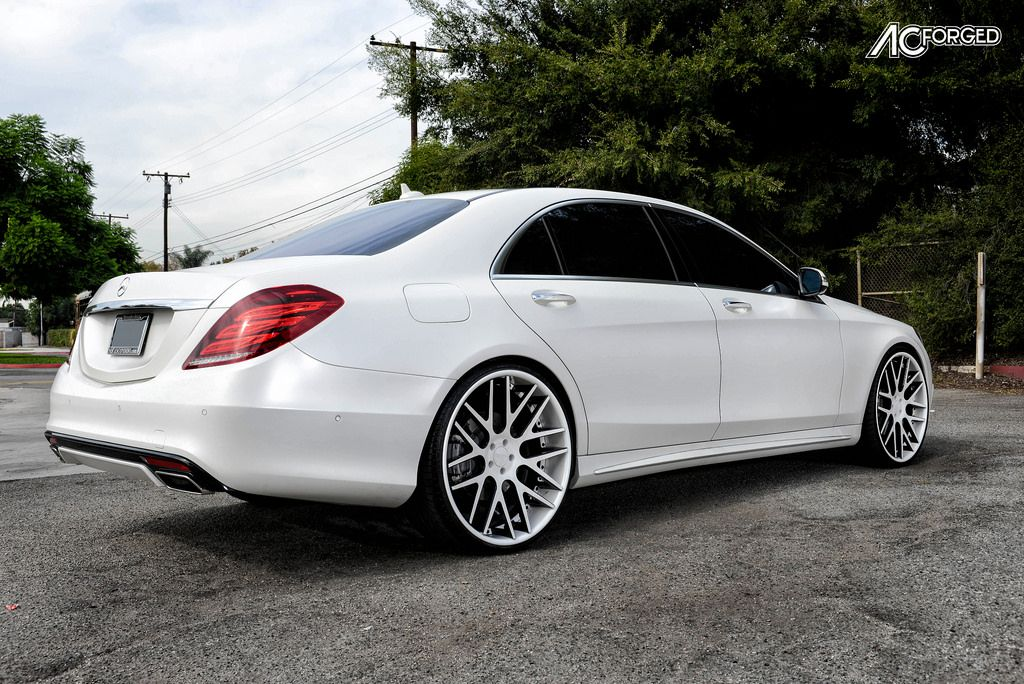 2015 mbz s 550 on 24 ac forged wheels acr 413 color for White rims for mercedes benz