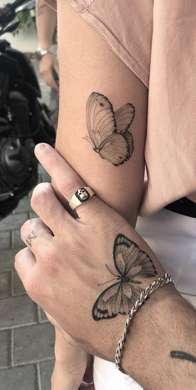Photo of Tusche deine Liebe mit diesen kreativen Paar-Tattoos – schöne passende Schmetterlinge …