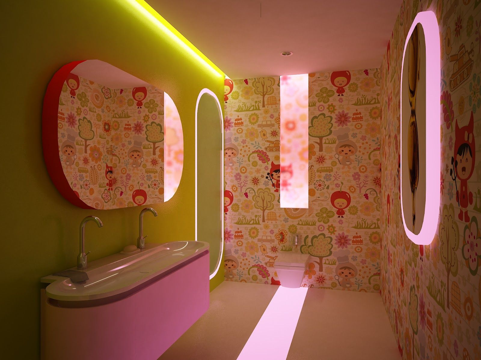 Kids Bathroom Inspired By Karim Rashid Design Line My Designs - Kids bathroom vanity for small bathroom ideas