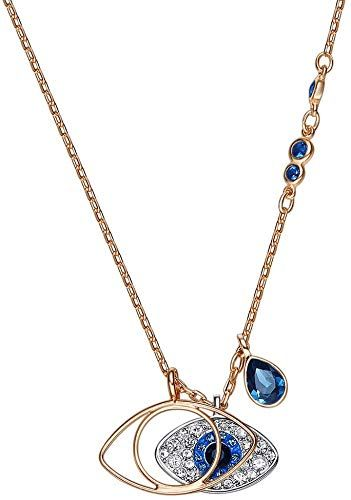 Photo of Buy Duo Evil Eye Pendant Rose Gold Sterling Silver Necklace  Women online – Looknewfashion