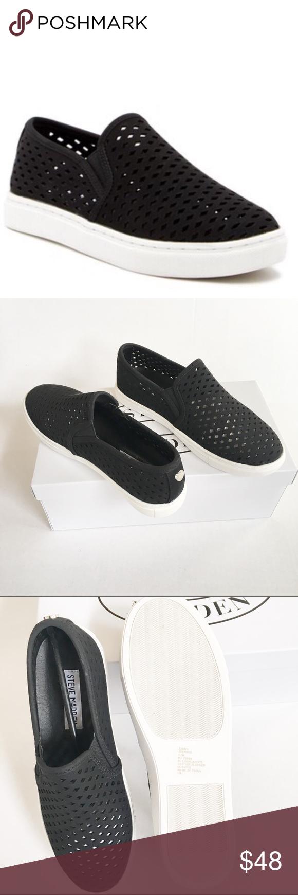 c3c82fdcd56 NEW Steve Madden black Zeena slip on sneaker 7.5 New comes with box. Steve  Madden Black Zeena slip on sneaker. M standard width. Round toe.
