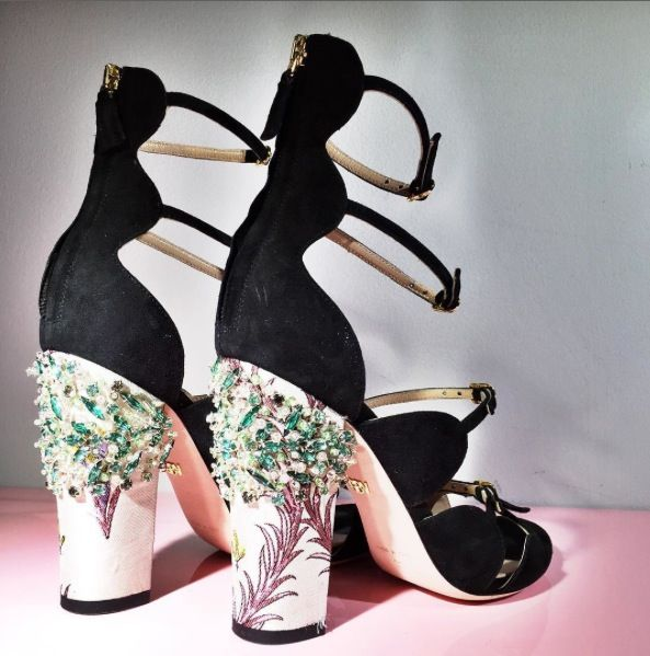 ELLE Loves . . . These Giambattista Valli embellished floral heels. We're in party shoe heaven.