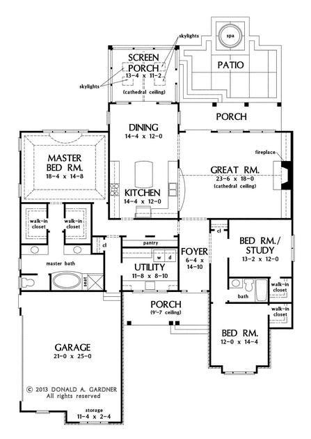 Home S Center Features Remarkable Kitchen Craftsman Style House Plans Craftsman Floor Plans House Plans