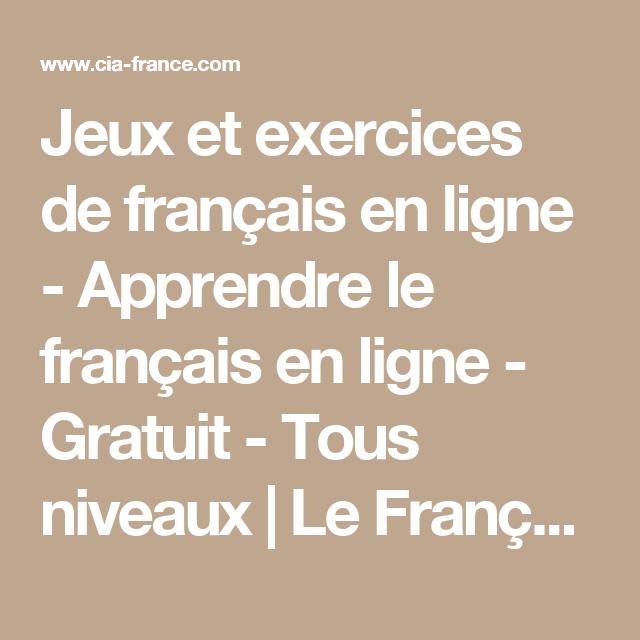 Jeux et exercices de français en ligne - Apprendre le ...