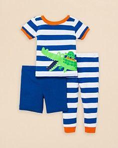 Little Me Infant Boys' Crocodile Friends 3 Piece Pajama Set - Sizes 12-24 Months