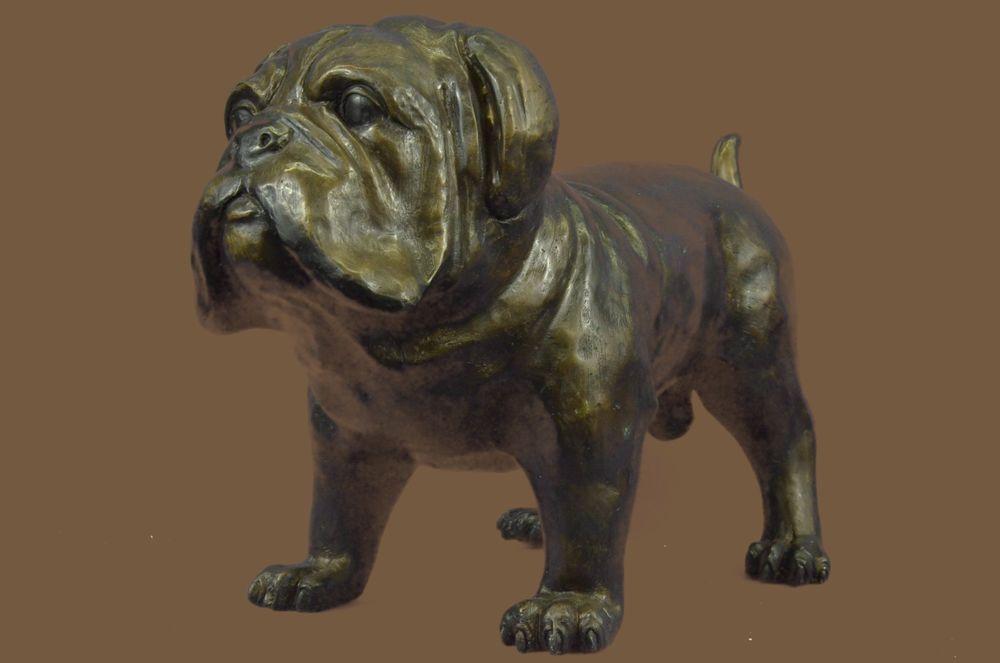 Bronze Figurine of English Bulldog dog