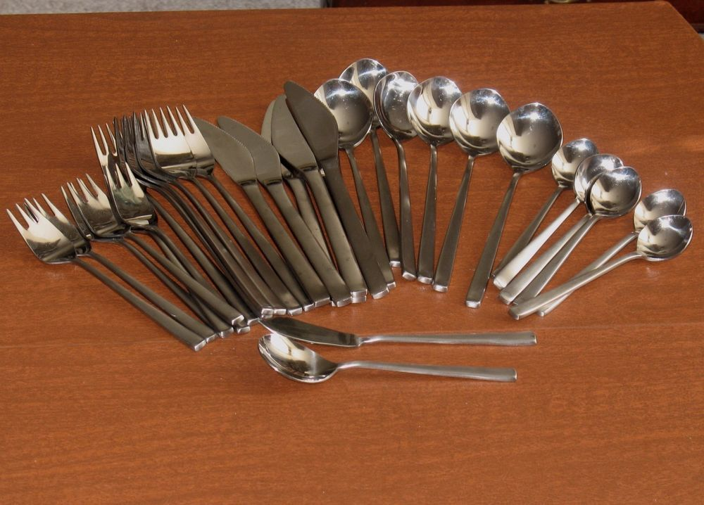 supreme cutlery towle stainless japan delta mcm danish modern flatware set