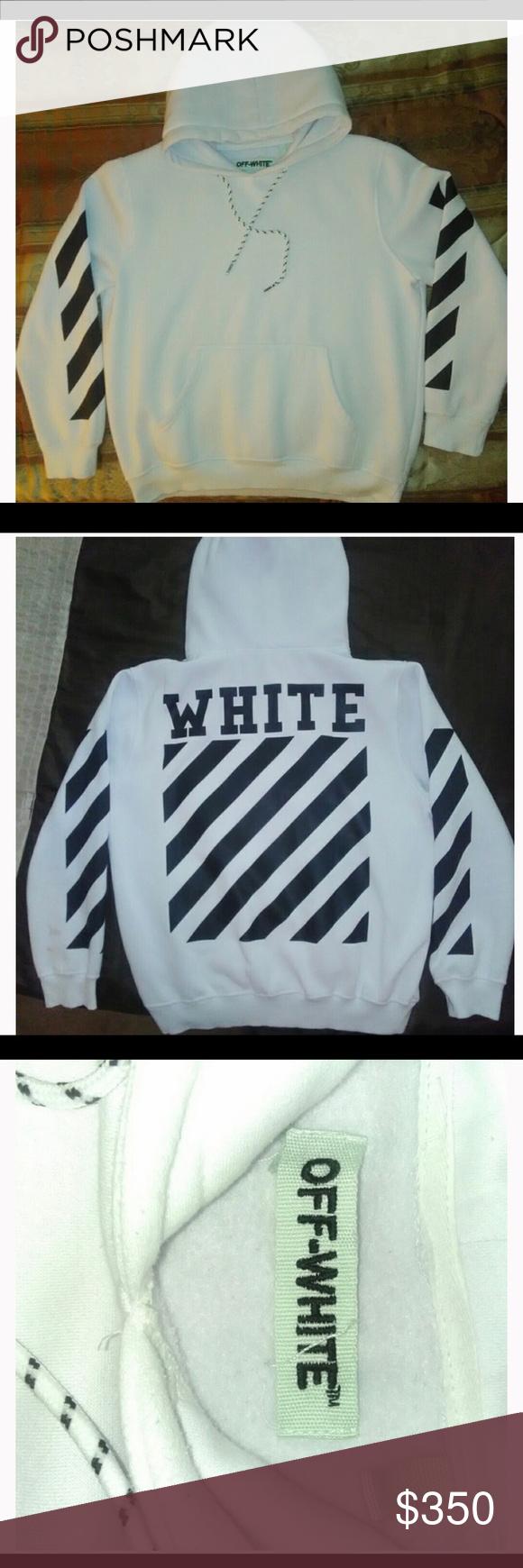 Off White C O Virgil Abloh Classic Stripe Hoodie Striped Hoodie Classic Stripe Hoodies