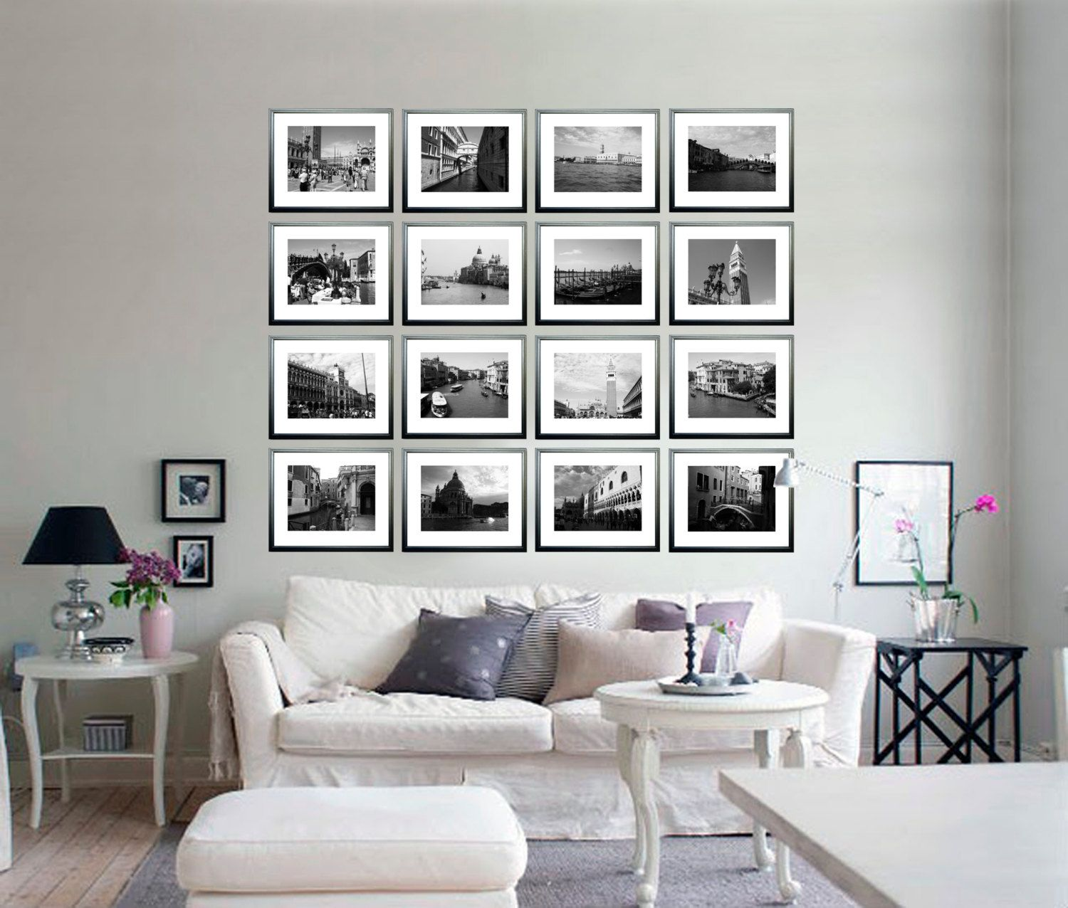 Set of venice photography collection black and white photo