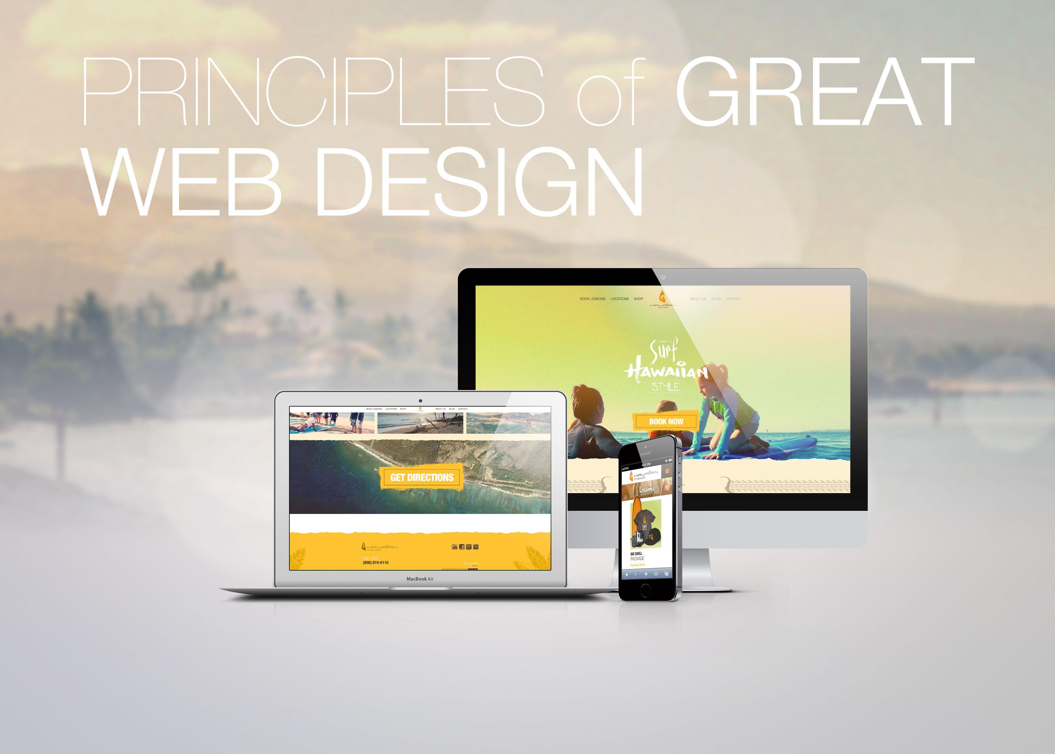 Great Tulsa Maui Web Design 5 Basic Principles Web Design Design Greats