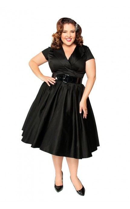 Birdie Party Dress In Black Plus Size Pinup Girl Clothing Plus Size Dresses Plus Size Vintage Clothing Plus Size Outfits