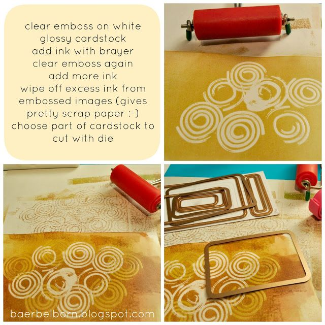 Baerbel Born DIY: Make A Stamp With Foam   Stempel Mit Moosgummi  Selbermachen