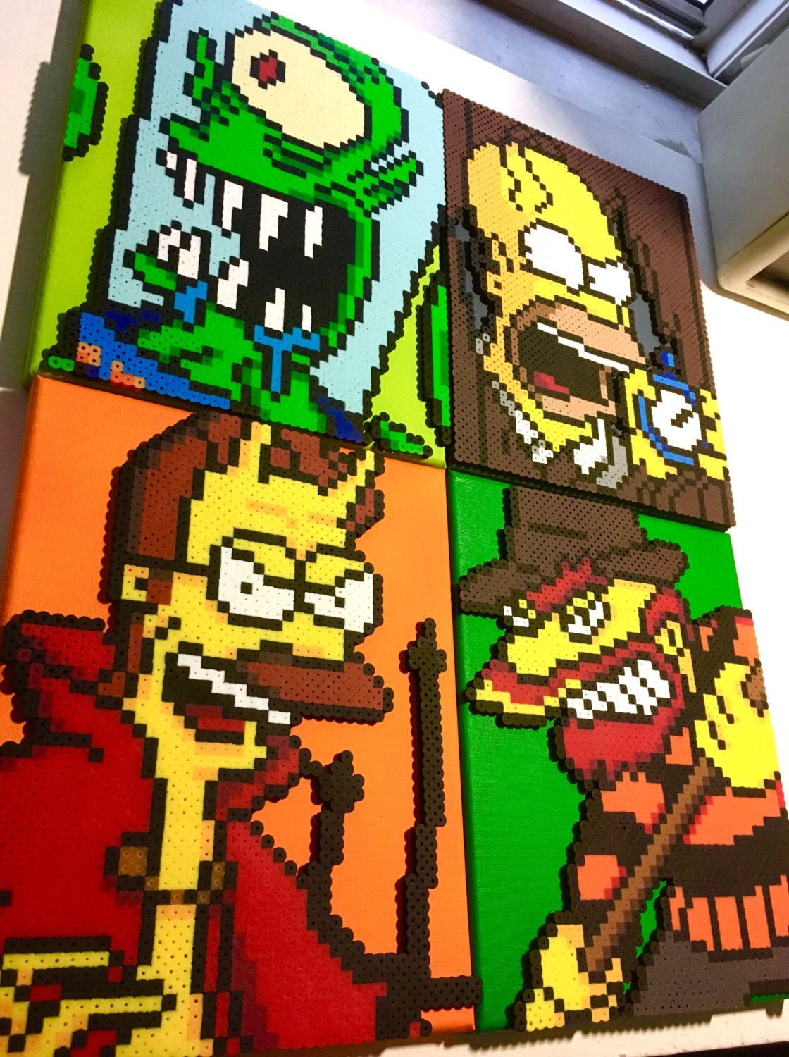 Simpsons Halloween Pixel Patterns - Cross Stitch - Perler Beads ...