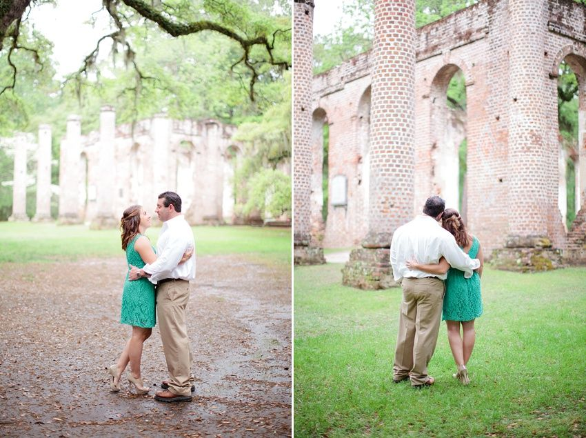 Old Sheldon Church Ruins Beaufort, SC engagement session, wedding photography, Devon Donnahoo Photography