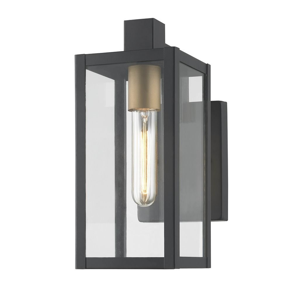 Modern Outdoor Wall Light Black 11 75 Inches Tall At Destination Lighting Modern Outdoor Wall Lighting Exterior Light Fixtures Modern Exterior Lighting
